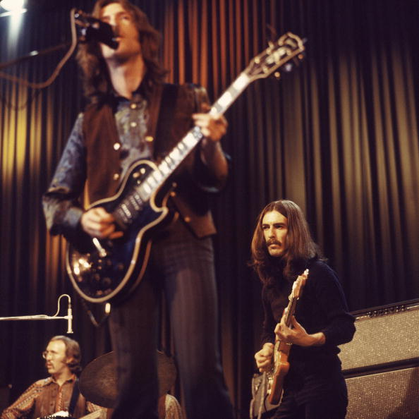 Photo of Eric CLAPTON and George HARRISON