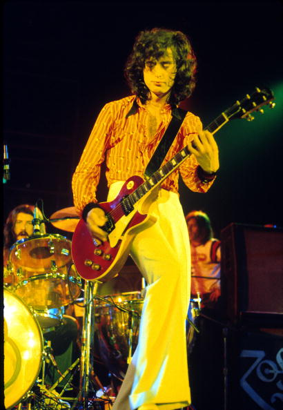 Led Zeppelin performing in Los Angeles