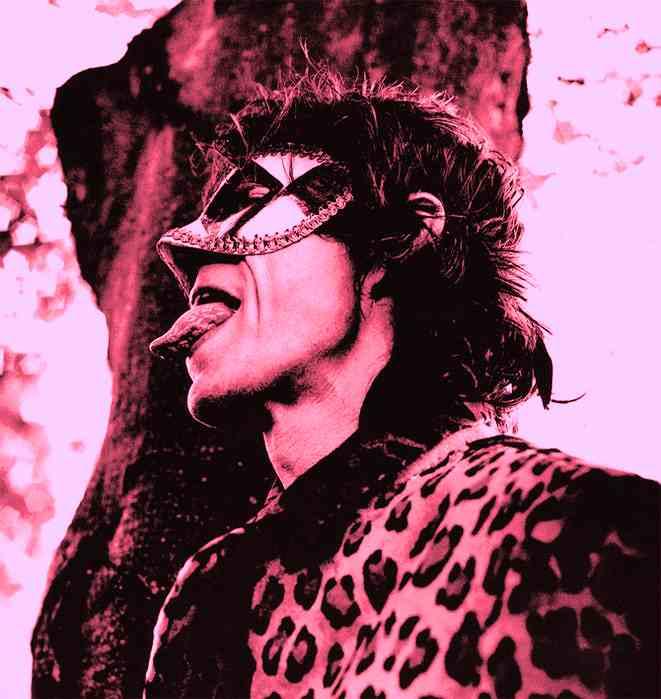 Jagger Mask leopard skin